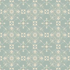 Elegant antique background image of check round cross flower pattern.
