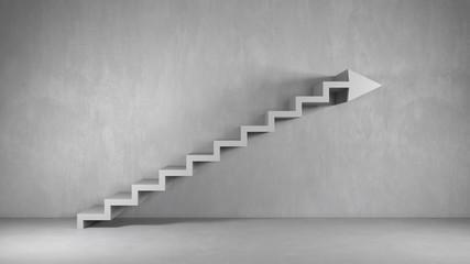Business Hintergrund mit Treppe als Pfeil Fotomurales