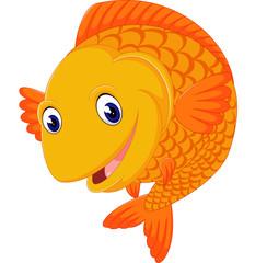 illustration of cute Cartoon fish