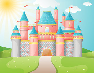 FairyTale castle illustration.