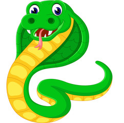 illustration of Cobra snake cartoon