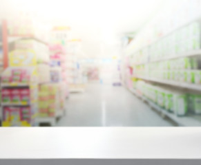 Abstract Blur Shopping Market of Background
