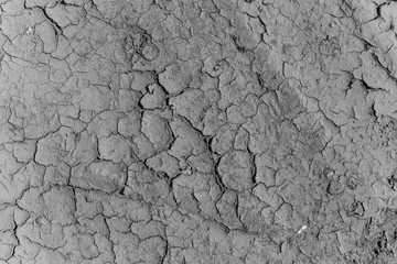 Close up texture drought parched earth