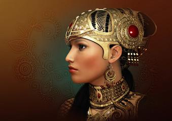 Portrait of an Oriental Princess, 3d CG