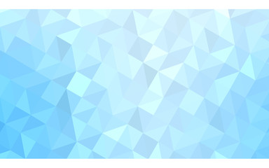 Blue polygonal design illustration, which consist of triangles and gradient in origami style.
