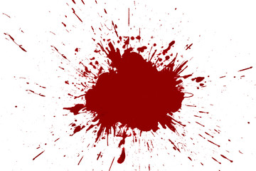 Blood splashed white background