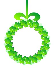 Obraz Zielony wianek - fototapety do salonu
