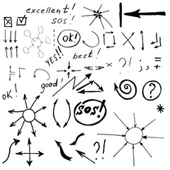 black vector arrows