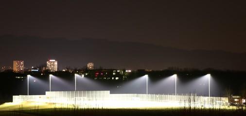 Fotobehang Stadion Stadion bei Nacht