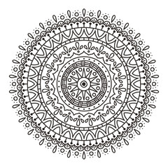 Mandala drawing, perfect for coloring