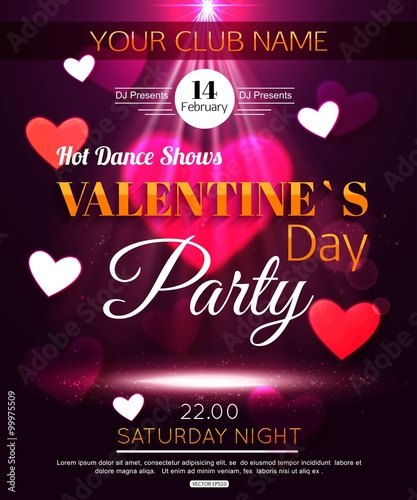 Happy Valentine S Day Party Valentine S Day Party Flyer