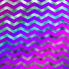 Rainbow Colorful Faux Foil Metallic Chevron Pattern Chevrons Tex