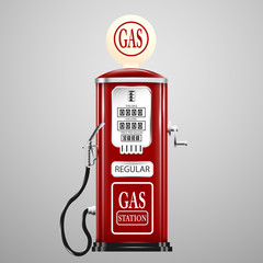 Reg isolated retro gas pump.