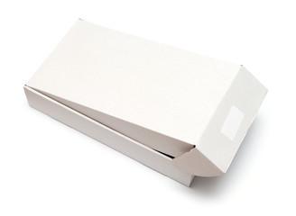 Blank white box isolated on white background