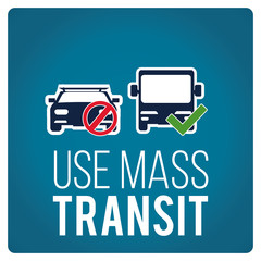 use mas transit illustration over blue color