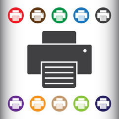 Printer icon for web and mobile