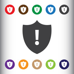 Security alert icon for web and mobile