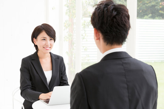 asian businessperson in the meeting