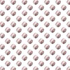 Baseball Softball Balls Background Pattern Texture