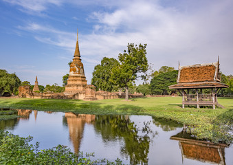 Wat Jao Prab temple . The temple is one of many temples in the Ayutthaya Historical Park, located in  Ayutthaya, Thailand