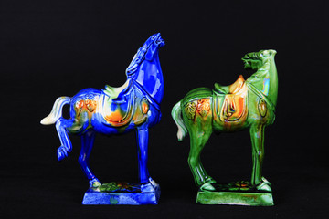 tri-coloured glazed pottery of the Tang Dynasty