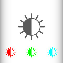 Brightness sign icon, vector illustration. Flat design style for