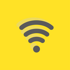 Wifi signal sign icon, vector illustration. Flat design style fo