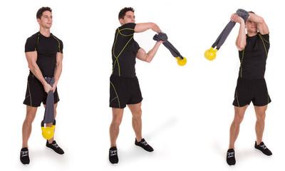 Kettlebell, Halo Towel Swing, Exercise