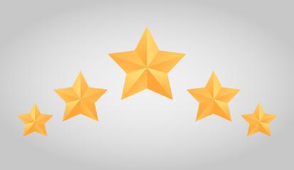 Fototapeta Set of vector paper origami star for logos, icons,  obraz