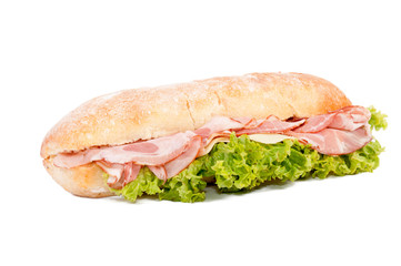 Fototapeta Sandwich isolated obraz