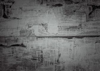 black background newspaper texture