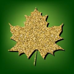 Golden shiny icon