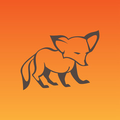 Fox sign in curve lines