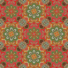 Seamless colorful pattern in oriental style. Islam, Arabic, Asian motifs