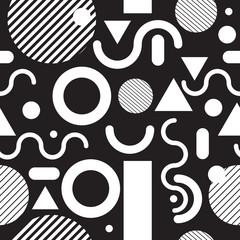 Fashion seamless pattern black and white