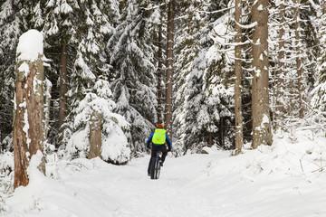 Wanderweg um dem Oderteich im Winter Nationalpark Harz
