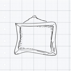 Simple doodle of a picture frame