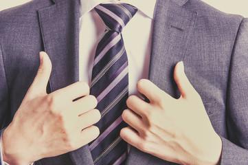 スーツのビジネスマン,上半身,レトロカラー