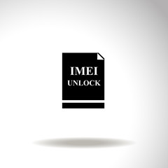 Imei unlock vector icon.