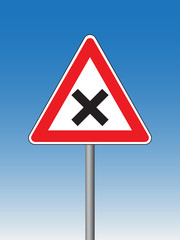uncontrolled junction sign