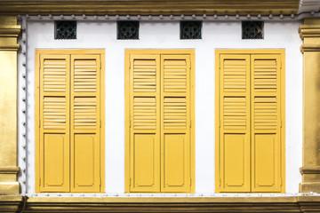yellow window doors
