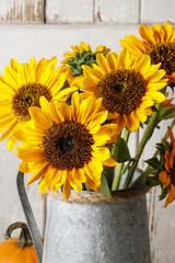 Wall Mural - Bouquet of sunflowers