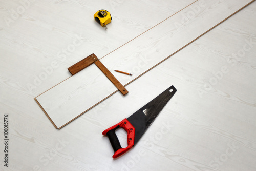 Tools For Cutting Laminate Floor Board Concept Of Home Improvements