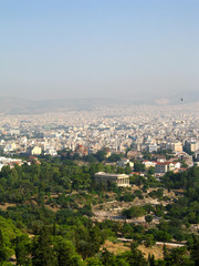 Panorama of Athens, capital of Greece
