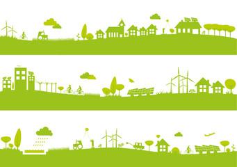 Bannières ville et campagne / Écologie