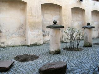 Renaissance courtyard in  Vilnius