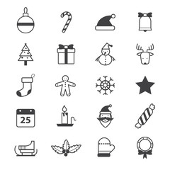 Christmas Party Icons Line