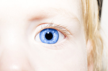Beautiful insightful blue look eyes