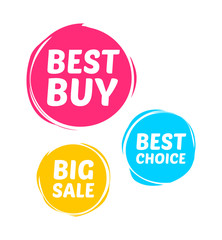 Best Buy, Best Choice & Big Sale Marks
