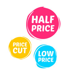 Half Price, Price Cut & Low Price Marks